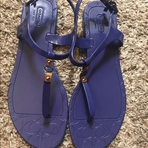 Coach jelly sandals